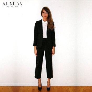 Custom Black Women Tuxedos Shawl Lapel Suits For Womens Business Suits One Button 2 Piece Set Women Trouser Suit Blazer Set