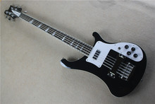 Free Shipping Factory custom shop High Quality musical instrument black Color 4 Strings 4003 Rick Electric Bass Guitar 1 2