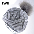 O envio gratuito de inverno chapéus para gorros skullies beanie hat menina mulheres de lã bonnet femme caps senhoras malha cap gorro quente óssea