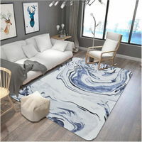 High quality hunger marbled carpet living room coffee table sofa bedroom bedside blue pattern mat