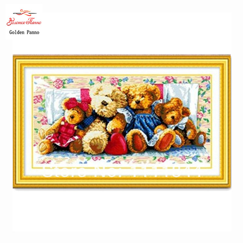 cross stitch kits мишки