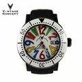 Винтажные модные автоматические мужские часы  черные пластиковые часы с чехлом  водонепроницаемые резиновые ремешки 50 м  цветные женские ч...