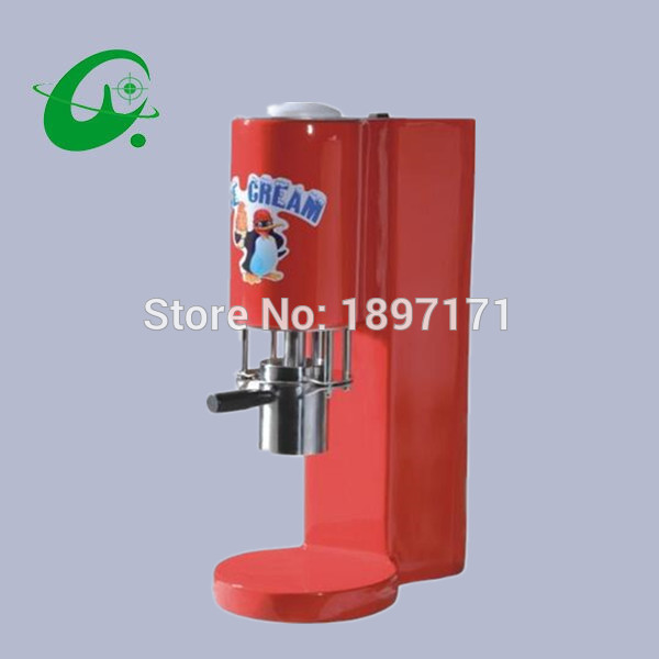 New style Desktop semi-automatic ice cream machine, mixed ice cream manual fruit ice cream mixer,Ice cream forming machine fruit ice cream feeder from factory selling gelato fruit nuts mixer