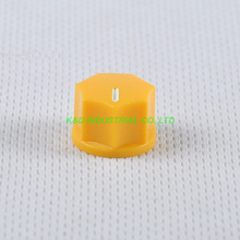 все цены на 10pcs Yellow Rotary Control Plastic Potentiometer Knob Guitar Knurled Shaft Hole онлайн