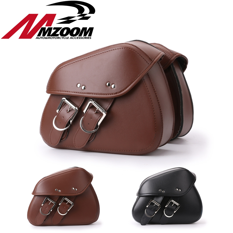 Motorcycle Accessories PU Leather left & right Saddle Side Tool Bags Saddle Bag for Motorcycle Luggage motorcycle capacity luagge side bag leather saddle bag dual sport bike chopper