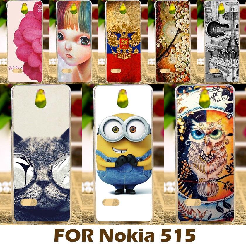 AKABEILA Mobile Phone Case For Nokia Asha 515 2.4 Inch Phone Covers Printing Cool Design For Nokia Asha 515 Cover