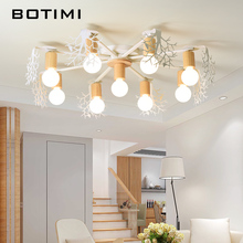 BOTIMI Creative LED Ceiling Lights For Living Room Lamparas de techo Bedroom Ceiling Lamp Green Lustre White Lustres Home Deco недорого