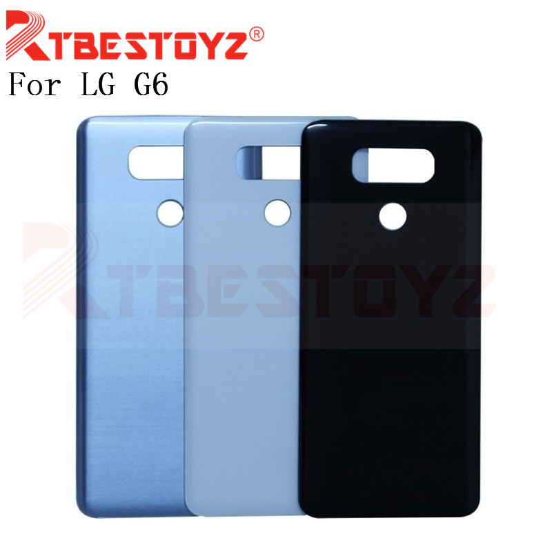 New Back Cover For <font><b>LG</b></font> <font><b>G6</b></font> LS993 US997 VS998 H870 H871 H872 <font><b>H873</b></font> Back Glass Battery Cover Rear Door Housing With Adhesive Sticker image
