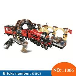 BELA 11006 832pcs Harry Magic Hogwarts Express Train Bela Building Blocks Compatible With 75955 Brick Toys For Children