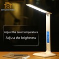 Led Light Calendar Clock flexible Modern Desk Lamp nordic lights Office Lamps bureau reading led lighting Table Lamp Adjustable