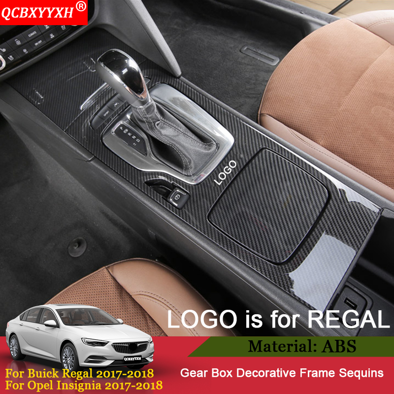 QCBXYYXH 4pcs ABS Interior Gear Box Cup Holder Protection Cover Accessories For Buick Regal Opel Insignia 2017 2018 Car Styling