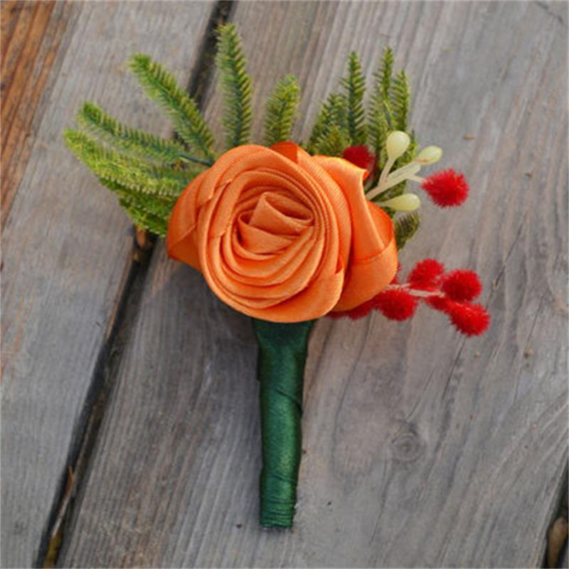 12 colour diy wedding groom flowers boutonniere groom groomfriend 12 colour diy wedding groom flowers boutonniere groom groomfriend best man wedding flower home party bride silk flower corsages in artificial dried mightylinksfo