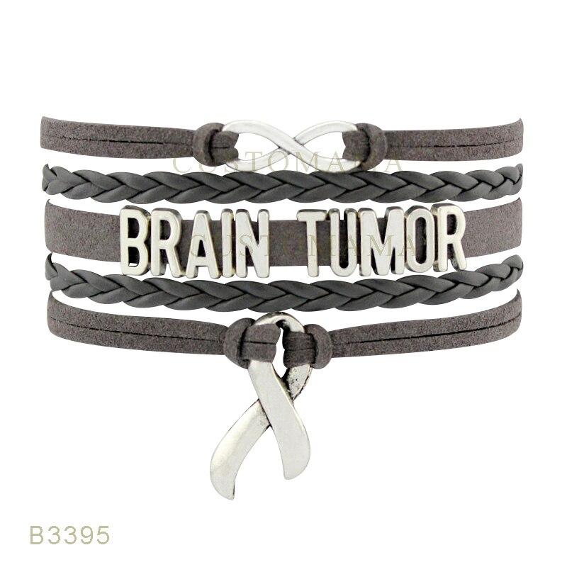 Custom Infinity Love Brain Tumor Cancer Awareness Ribbon