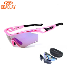 OBAOLAY Brand Polarized Men Women Cycling Sun Glasses Outdoor Sports Bicycle Glasses Bike Sunglasses TR90 Goggles Sports Eyewear