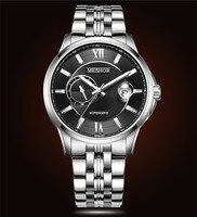 (Meshor) Автоматическая Механическая MS часы сапфировое стекло MS.9040M. 16.216