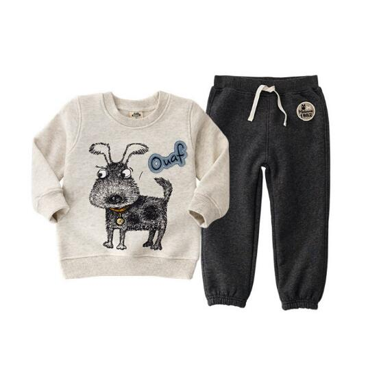 2018 children's sets fashion clothing Autumn Cotton boy girl Clothes Kids Sports Clothing Sets of clothes for girls and boys
