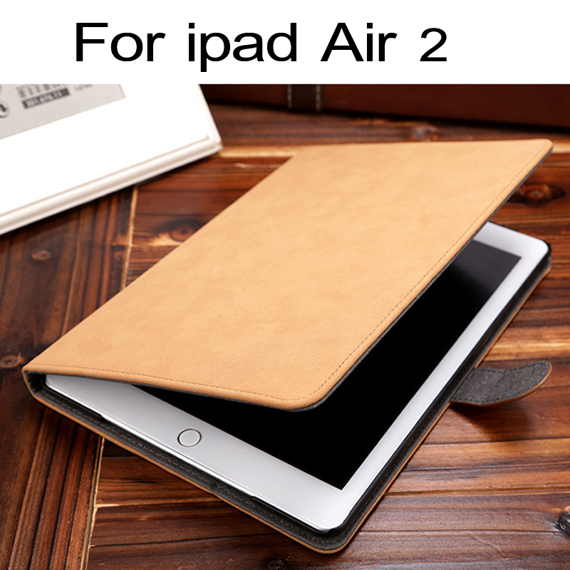 все цены на Case For Apple Ipad Air 2 High Quality Fashion Leather Flip Vintage Ultra-thin Standing Leather Case For 2017 new ipad 6 model онлайн