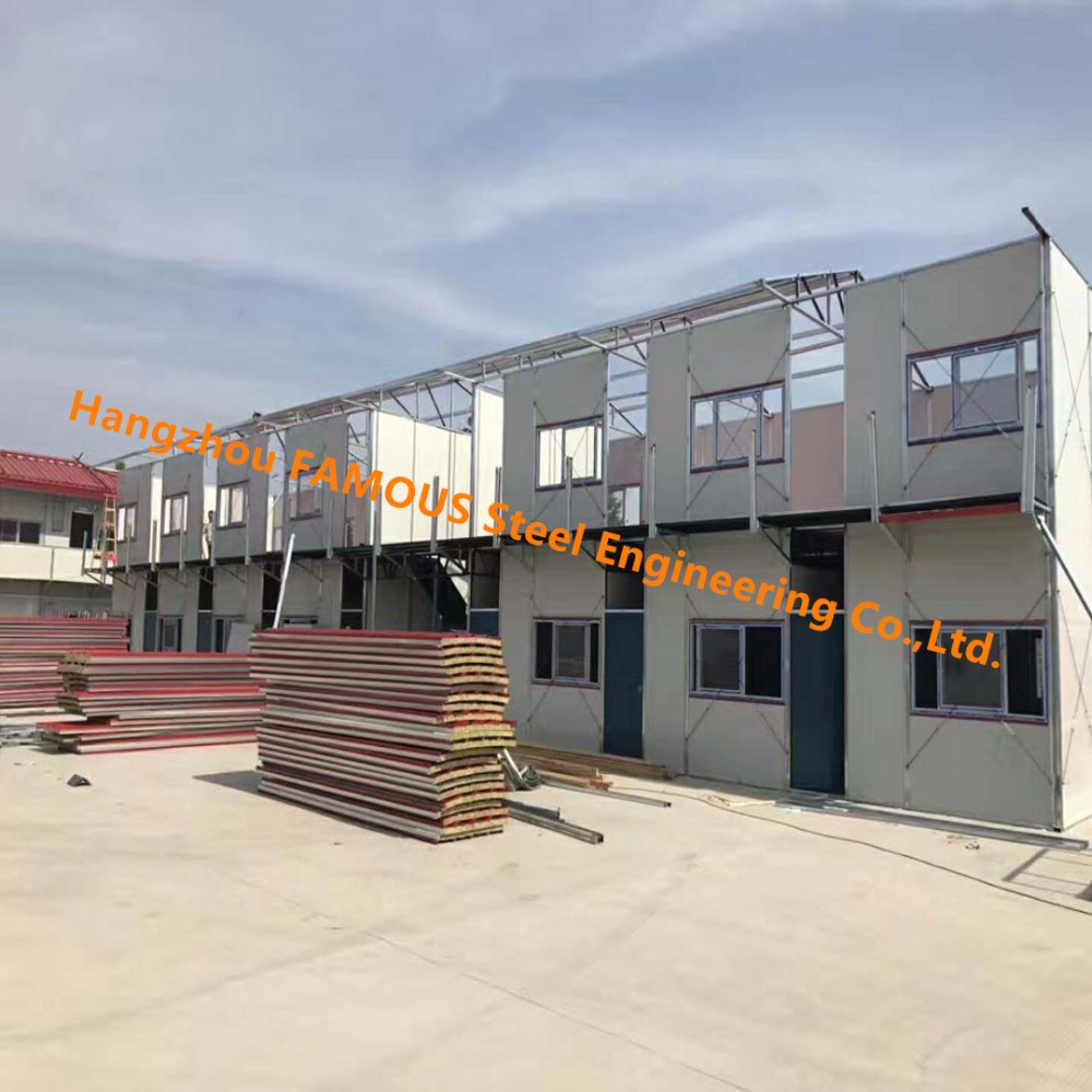 Prefab Portable House Assembled By Insulation Panels For Rent Or Temporary Use