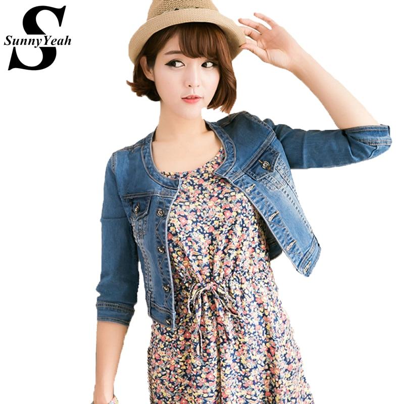 Vintage Denim   Jacket   Women   Basic   Coats 2018 Slim Short mujer   Jackets   Female Coat Casual Ladies Outwear Jeans jaqueta feminina