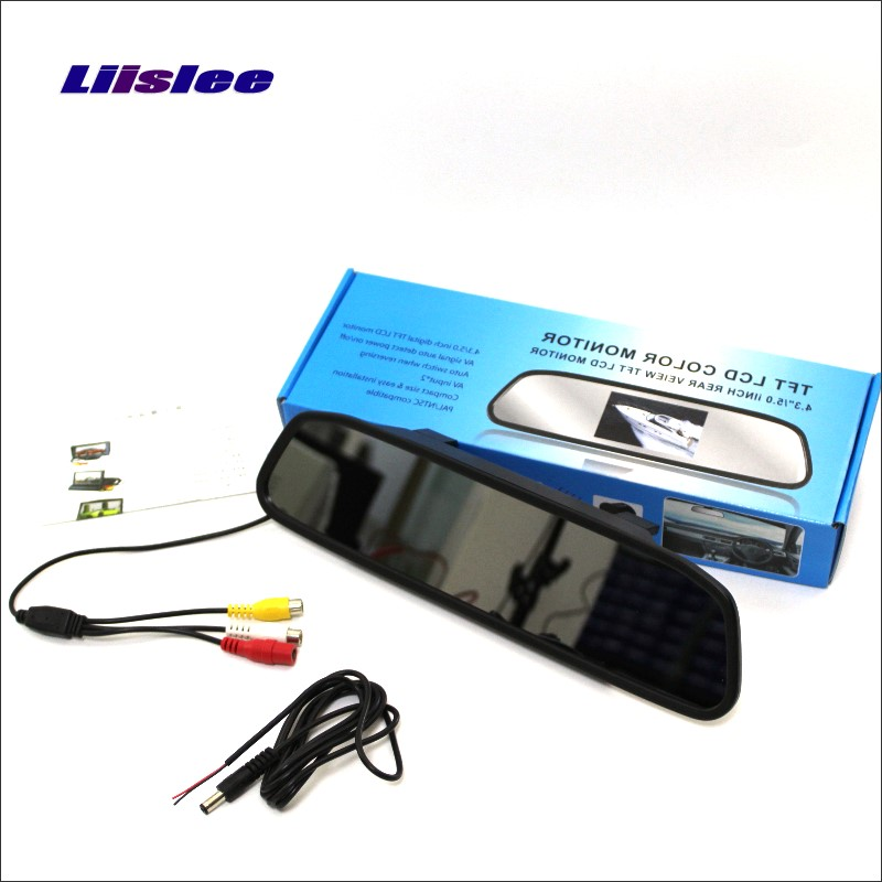 Liislee For Mercedes Benz Smart Fortwo 451 Rearview Mirror Car Monitor Screen Display / HD TFT LCD NTSC PAL Color TV System