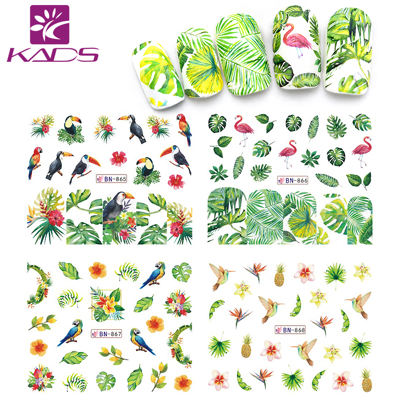 KADS Decalcomanie acqua decalcomanie adesivi per unghie Adesivi per unghie Design del fumetto slider nail sticker unghie accessori nail art cursori manicure