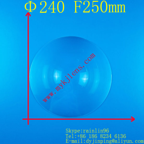 fresnel lens Diameter 240mm Focal length 250mm Round Fresnel Lens thickness 2mm circle lens for DIY projector traffic light lens