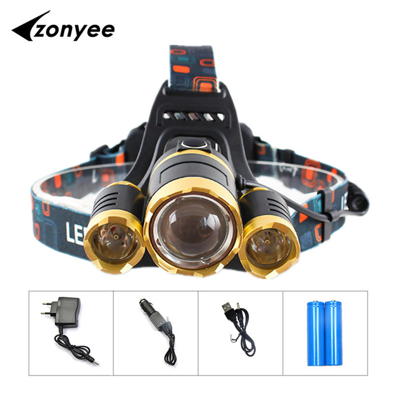 XML T6 Front HeadLamp LED Headlight 10000 Lumens LED Head Lamp 18650 Rechargeable Fishing Hunting Headlamps Outdoor Lighting налобный фонарь headlamps 2000 xml t6 cree 18650 led headlamp
