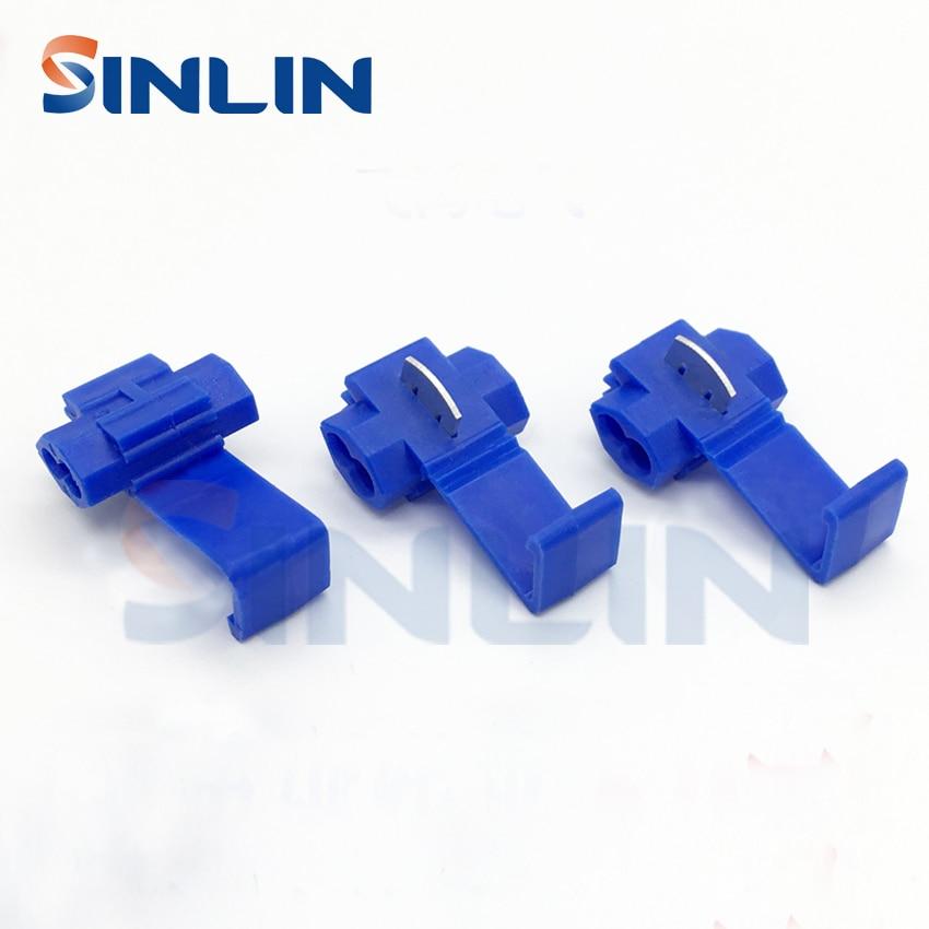 50pcs 802P3 Blue Scotch Lock Quick Splice Wire Connector  18-14AWG Hard Soft 0.75-2.5mm^2  Crimp Terminal 25pcs scotch lock quick splice 12 10 awg wire connector yb