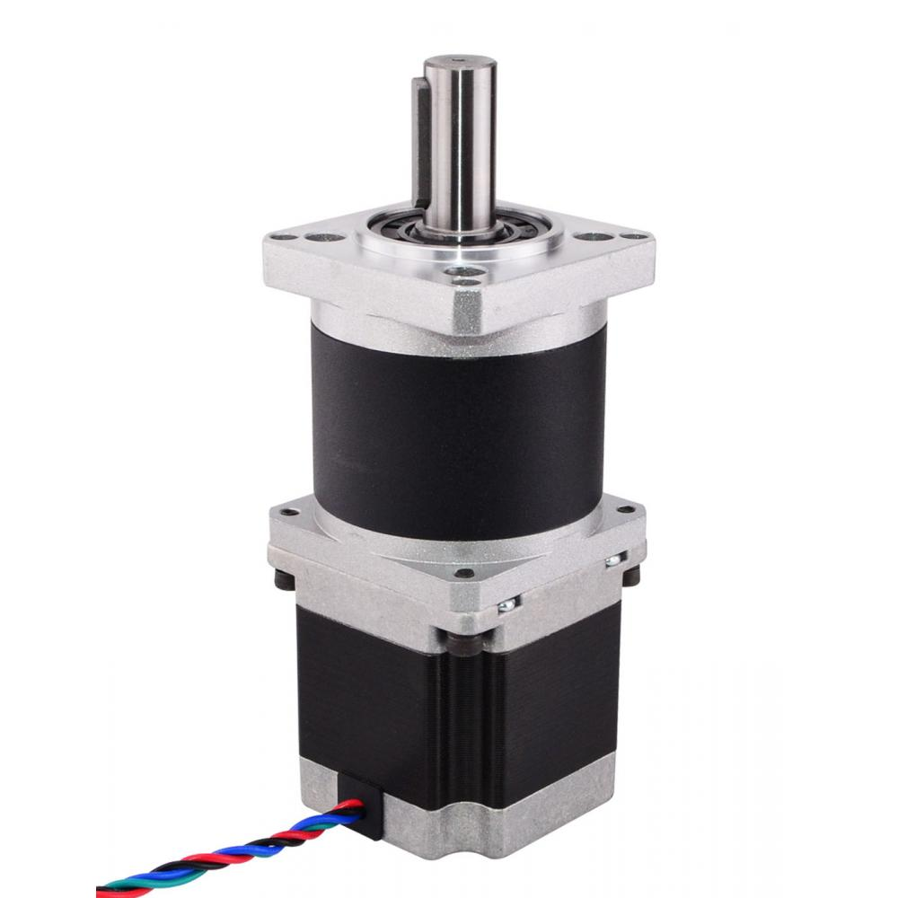 Nema 23 Stepper Motor L=56mm Gear Ratio 15:1 High Precision Planetary Gearbox 2.8A 57mm planetary gearbox geared stepper motor ratio 10 1 nema23 l 56mm 3a