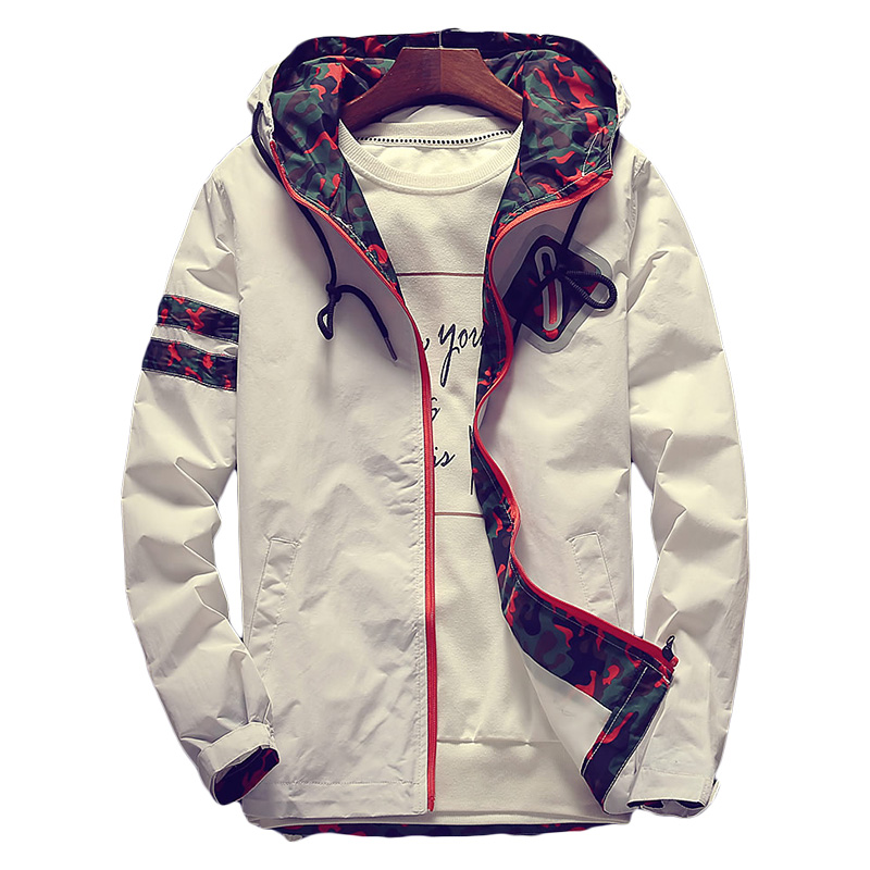 Women's Hooded   Jackets   2019 Spring White Floral Women   Basic     Jackets   Flowers Windbreaker Coats Zipper Lightweight   Jackets   Famale
