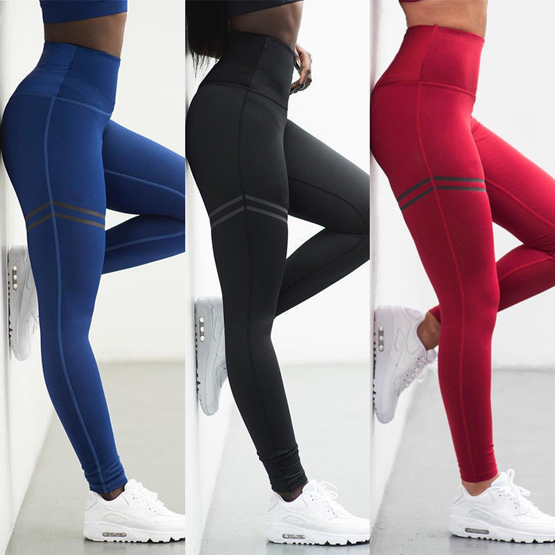 2019 Summer Womens Jogger Sports Yoga Workout Gym Fitness Leggings Pants Jumpsuit Athletic Leggings Running Gym Scrunch Trousers
