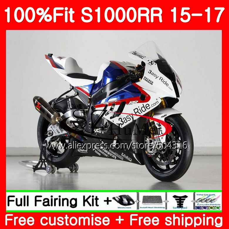 Injection Body For BMW S 1000RR S 1000 RR 15 17 Bodywork 91NO.1 S1000RR 15 16 17 S1000 RR 2015 2016 2017 Fairings Factory blueInjection Body For BMW S 1000RR S 1000 RR 15 17 Bodywork 91NO.1 S1000RR 15 16 17 S1000 RR 2015 2016 2017 Fairings Factory blue
