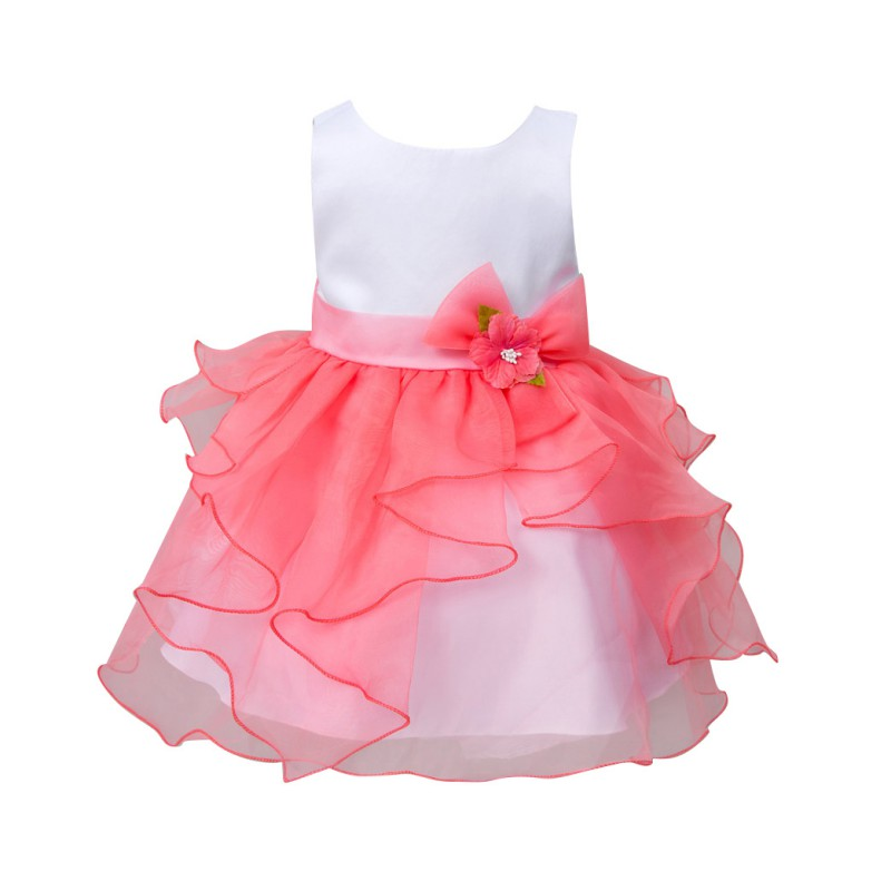 2017 New Hot-selling Summer Baby Girls Kids Infant Princess Birthday Wedding Party Pageant Flower Gown Girl Dress baby girl pageant wedding dresses infant princess girls birthday party dress christening kids frock designs for 2 4 6 8 10 years