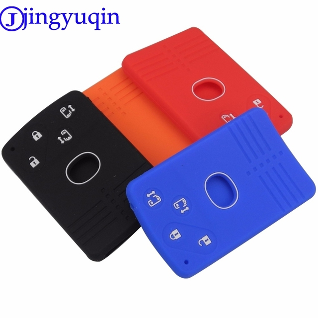 jingyuqin Remote Key Silicone Rubber Car Key Fob Cover Case Wallet Protector Remote For Mazda 5 6 8 M8 CX-7 CX-9 Smart Key