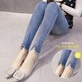 De moda de corea Pantalones Vaqueros De Maternidad pantalones abdominales de maternidad pantalones de primavera y otoño mostrar thin pantalones embarazadas pantalones cerdas
