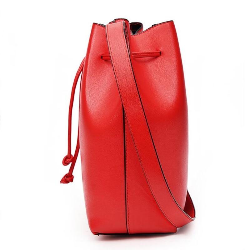 balde bolsa cadeia ombro sacolas Color : Black Red Pink
