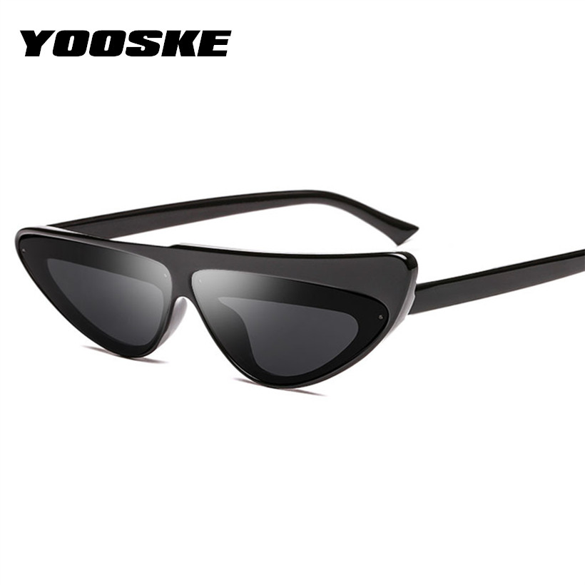 YOOSKE Women Sunglasses Cat Eye Sun Glasses for Ladies Brand Designer Sexy Triangle Vintage UV400 Eyewear
