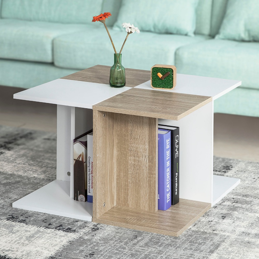 SoBuy FBT55-WN Modern Wooden Coffee Table Living Room End Table Square Side table Home Furniture цены