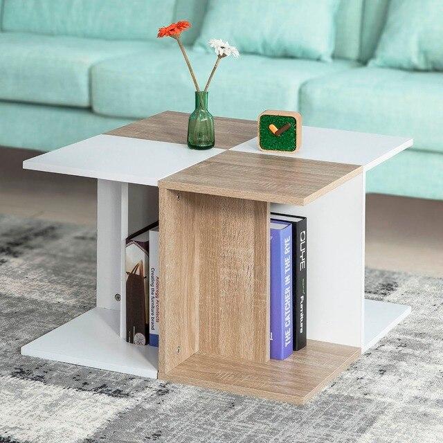 sobuy fbt55 wn modern wooden coffee table living room end table rh aliexpress com
