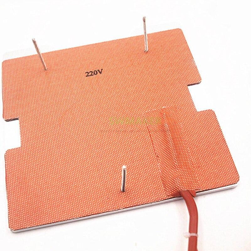 SWMAKER 120V/220V 250W silicone heater+aluminum base plate+glass heated bed upgrade kit for Flashforge finder 3D printer - 2