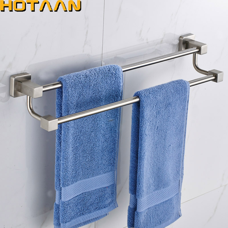 Free Shipping Double Towel Bar/Towel Holder, 304# Stainless Steel Made,Chrome Finish, Bathroom hardware,Bathroom accessories free shipping contemporary chrome finish stainless steel single towel bar 7804