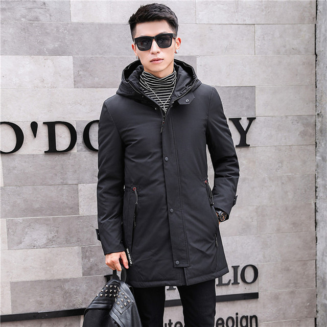 835c235886167 2018 New Arrival Winter High Quality Warm 90% White Duck Down Hooded  Jakcets Men