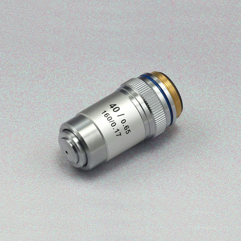 Achromatic Biological Microscope Objective Lens Conjugate Point Distance 195mm NA 0.65 40x Working Distance 0.65mm 1PC