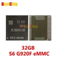 100 Original New KLUBG4G1BD E0B1 For Samsung S6 G920F EMMC 32GB NAND Flash Memory IC Chip