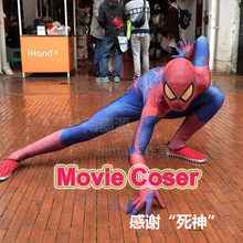 Movie Coser-5 High Quaity Custom Made Super Hero The Amazing Spider Man 1 Cosplay Costume Amazing Spiderman Costume Suit