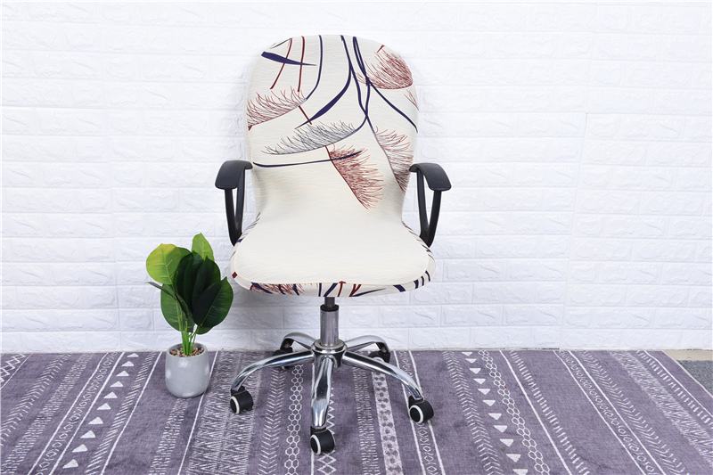 Elasticity Office Computer Chair Cover Side Arm Chair Cover Recouvre Chaise Stretch Rotating Lift Chair Cover Without Chair (31)