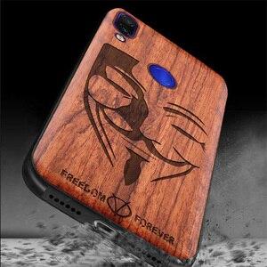 Image 2 - Redmi note 7 capa funda de madeira real, proteção antichoque de tpu para xiaomi redmi note 7 note7 pro concha do telefone