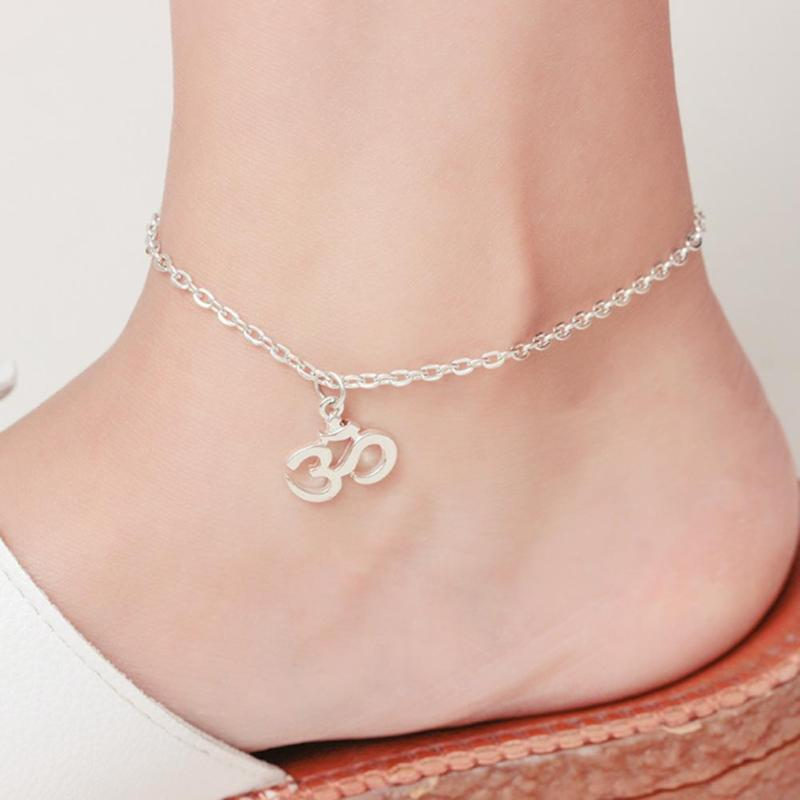 1 Pcs Lovely Simple Design Fashion Silver Road Bike Adjustable Open Link Chain Hot Sale Anklet Jewelry Gifts for Girls