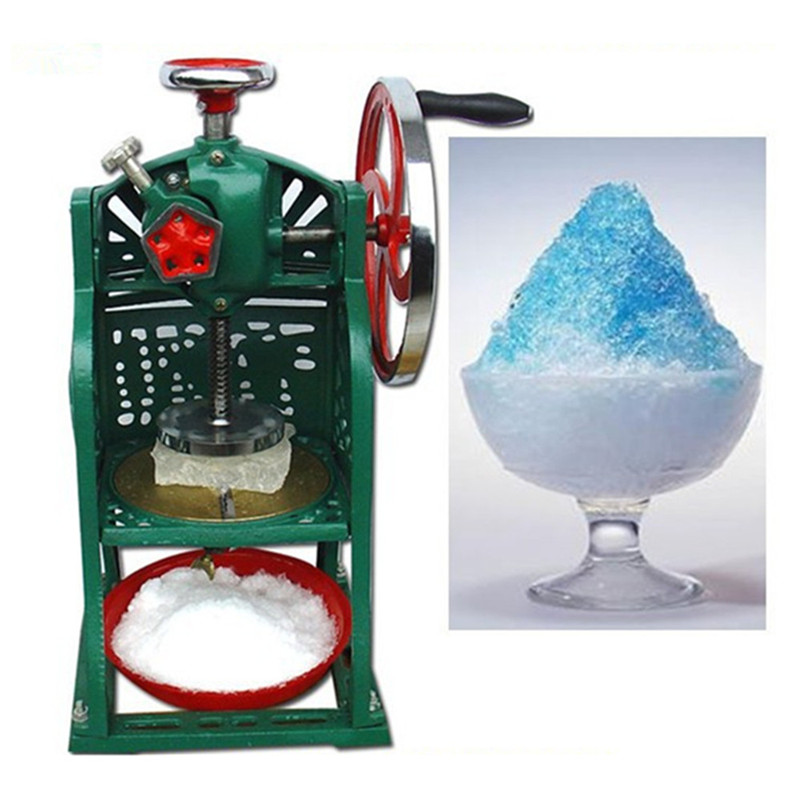 Manual ice shaver hand ice chopper ice drink blender commercial snow ice machine home use block shaving machine hand driven ice crusher commercial and home use crushed ice machine zf