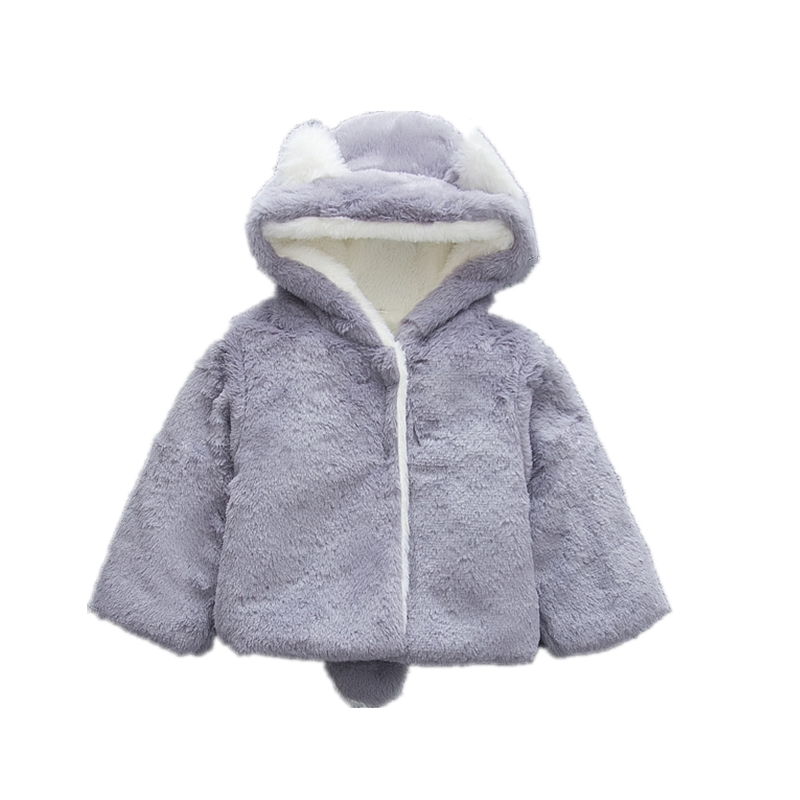 48b5fa453 Novelty Newborn Infant Jackets Pure Color Hooded Outerwear Baby Boy ...